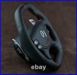 Mercedes custom steering wheel flat bottom big paddles W219 R230 W209 W211 AMG