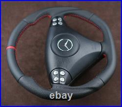 Mercedes custom steering wheel flat bottom paddle R171 W203 AMG SLK C class LCI