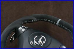 Mercedes custom steering wheel flat bottom thick big paddles R171 W203 C AMG SLK