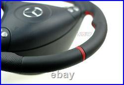 Mercedes custom steering wheel flat bottom thick red R171 W203 C AMG SLK, C class