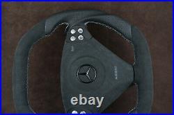 Mercedes custom steering wheel paddle flat bottom thick R171 W203 C AMG SLK W463