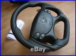 Mercedes paddle flat bottom steering wheel W219 R230 CLK W209 W211 E63 AMG Black