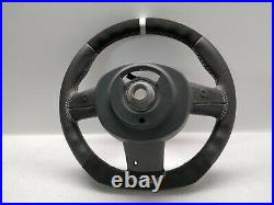 Mini Cooper Steering Wheel Flat Alcantara Jcw Custom R50 R52 R53 Grey Stitch