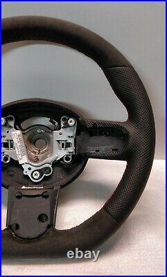 Mini Cooper Steering Wheel Flat Alcantara Jcw Custom R50 R52 R53 Red Stitch