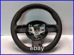 Mini Cooper Steering Wheel Flat Alcantara Jcw Custom R50 R52 R53 White Stitch