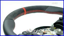 Mini Cooper custom steering wheel f54 f55 f56 f60 flat bottom thick Alcantantara