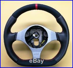 Mitsubishi Lancer Evolution Evo VII VIII IX Flat Bottom Steering Wheel! Leather