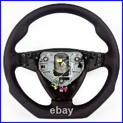NBR Flat Bottom Perforated Sports Leather Steering Wheel for Saab 9-3 06-12