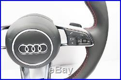 NEW AUDI TTs LINE A4 S4 A5 S5 TT TTs STEERING WHEEL FLAT BOTTON 2015+ 1110