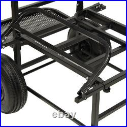NEW Dynamic NGT Folding Fishing Trolley Carp Coarse Match Folds Flat Twin Wheel