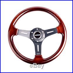 NRG Steering Wheel Classic Wood 330mm 3-spoke Matte Black Center ST-015-1BK