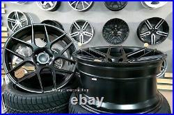 New 18 inch 5x112 HAXER HX 022 rim AUDI MERCEDES CONCAVE Wheels Black BBS Vossen