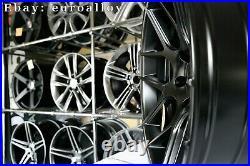 New 18 inch 5x120 HAXER HX022 rims BMW E46 E90 CONCAVE Wheels Black BBS