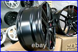 New 20 inch 5X115 Hellcat SRT style wheels BLACK RED FORGED for DODGE CHALLENGER