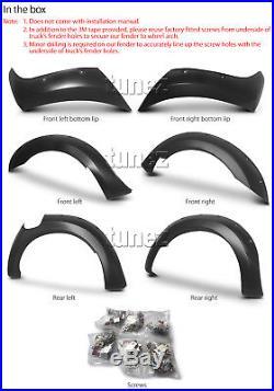 New 6 Piece Set Ford Ranger T6 PX2 MK2 Wheel Arch Matte Black Fender Flare ABS E