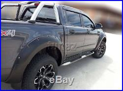 New 6 Piece Set Ford Ranger T6 PX2 MK2 Wheel Arch Matte Black Fender Flare ABS K