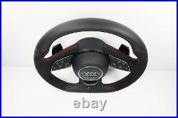 New Audi RS4 Flat Bottom Half Alcantara Steering Wheel Shift Paddles A4 S4 1110