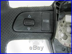 New OEM AUDI B7 A4 S4 RS4 Flat Bottom Black Leather Silver S Line Steering Wheel