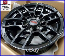 New Oem Toyota Tacoma 95-2020 Trd Pro Matte Black 16'' Trd Pro Wheels Set Of 4