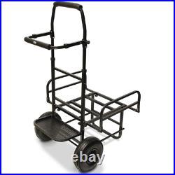 Ngt Dynamic Fishing Trolley Carp Coarse Match Folds Flat Twin Wheel Large Base