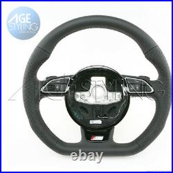 OEM AUDI A4 A5 Q5 Q7 S-Line Flat Bottom Steering Wheel with Gear Paddle Shifters