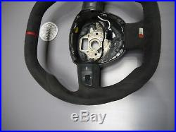 OEM Audi 8E A3 8P A4 8E A6 thick flat bottom ALCANTARA steering wheel 4F0124A