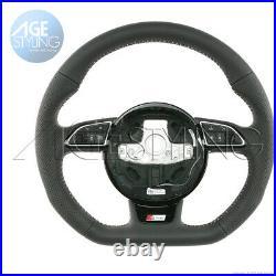 OEM Audi A1 8X A6 A7 4G S-Line Flat Bottom Steering Wheel 2012-017 8XA419091HRRI