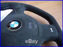 OEM BMW E46 M3 SMG CSL Top quality Ledermanz custom steering steering wheel flat