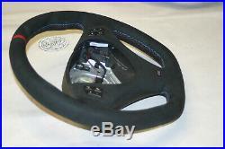 OEM BMW flat bottom Alcantara steering wheel E90 M E92 E93 E87 E82 E88 E81 M1 M3