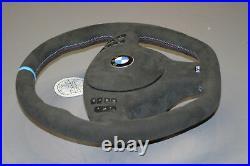 OEM BMW steering wheel E46 E38 E39 E53 M3 M5 suede FULL Alcantara flat bottom