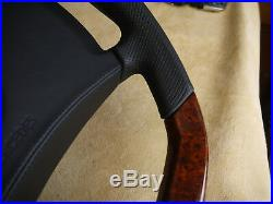 OEM! Mercedes Steering Wheel CUSTOM WOOD FLAT R107 SL W123 G S E W124 W126