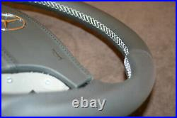 OEM Mercedes W220 W215 s55 cl65 s65 AMG custom steering wheel flat bottom paddle