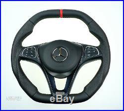 OEM Mercedes custom steering wheel THICK FLAT BOTTOM SQAURE TOP none-amg models