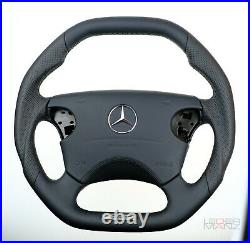 OEM Mercedes custom steering wheel W210 W208 W463 flat bottom square top AMG
