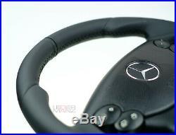 OEM Mercedes non-paddle flat bottom thick steering wheel R230 CLK W209 SL
