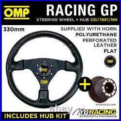 OMP RACING GP 330mm STEERING WHEEL & HUB for RENAULT CLIO 172 182 CUP 98-06