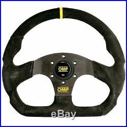 OMP Superquadro Suede Flat Steering Wheel 320/290mm Black