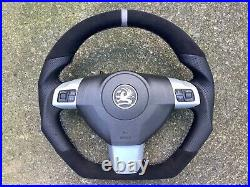 Opel Vxr Opc Gts Gsi Astra H Zafira B New Flat Bottom Custom Made Steering Wheel
