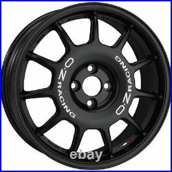 Oz Racing Leggenda Matt Black White Lettering Alloy Wheel 17x7 Et42 4x100