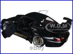 Porsche Rwb 993 Matt Black With Gold Wheels 1/18 Model Car By Autoart 78154