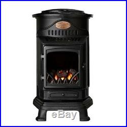 Provence Portable Real Flame Effect 3kW Matt Black Gas Heater