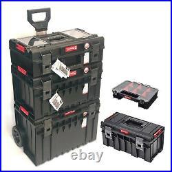 Qbrick Pro Modular Storage Cart Set 5pc Wheeled Toolbox Organiser Multi