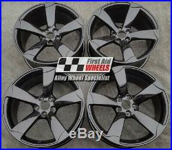 R449BG YOURS 4 Ours AUDI A5 8T S5 4X 19 GENUINE ROTOR GLOSS BLACK ALLOY WHEELS