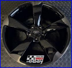 R449BSL Swap AUDI A5 S5 4X 19 GENUINE ROTOR BLACK SMOKED LACQUER ALLOY WHEELS