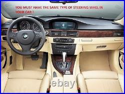 RACING FLAT BOTTOM STEERING WHEEL BMW E90 E91 E92 E81 E87 Mpower NEW ALCANTARA