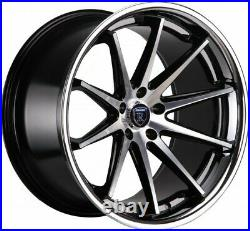 ROHANA RC10 in 9&10x20 BLACK Machined- 5x115 SOFORT. In ET15