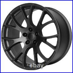 Replica 161MB Hellcat 20x10.5 5x115 +25mm Matte Black Wheel Rim 20 Inch