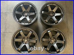 Rota Grid Wheels, flat black, 18x9.5 5x114.3 ET20, Skyline R32 R33 R34 GTR, Evo