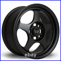 Rota Slip Alloy Wheel 15 X 7 4x100 Et28 67.1mm Cb Flat Black