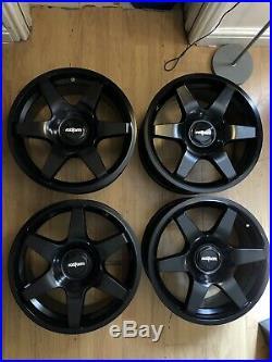 Rotiform SIX Black Matt 5x100 and 5x112 et45 Alloy Wheels (4) 8.5x18